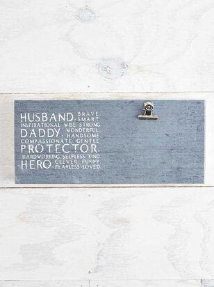 Husband, Dad, Hero Clip Frame - Altar'd State