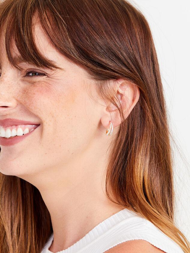 Faye Hoop Earrings Detail 2 - Altar'd State
