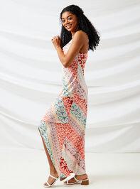 Carlie Patchwork Maxi Dress Detail 2 - Altar'd State