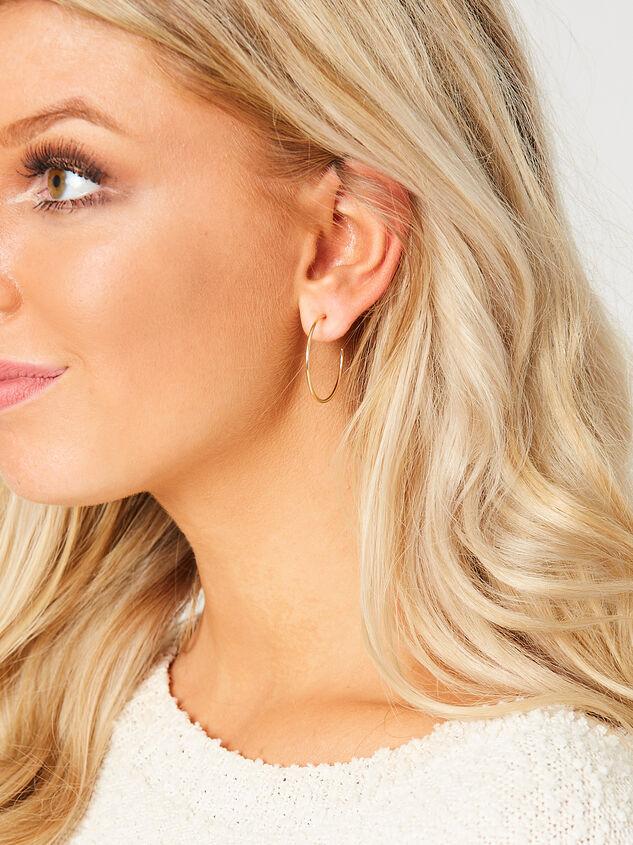 Kara Mini Hoop Earring Set Detail 2 - Altar'd State