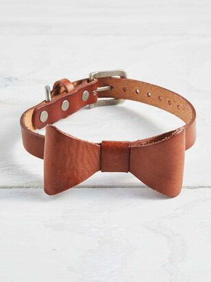 Bear & Ollie's Leather Bow Dog Collar - Medium - Altar'd State