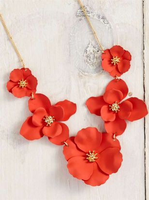 Flower Power Necklace - Red - Altar'd State