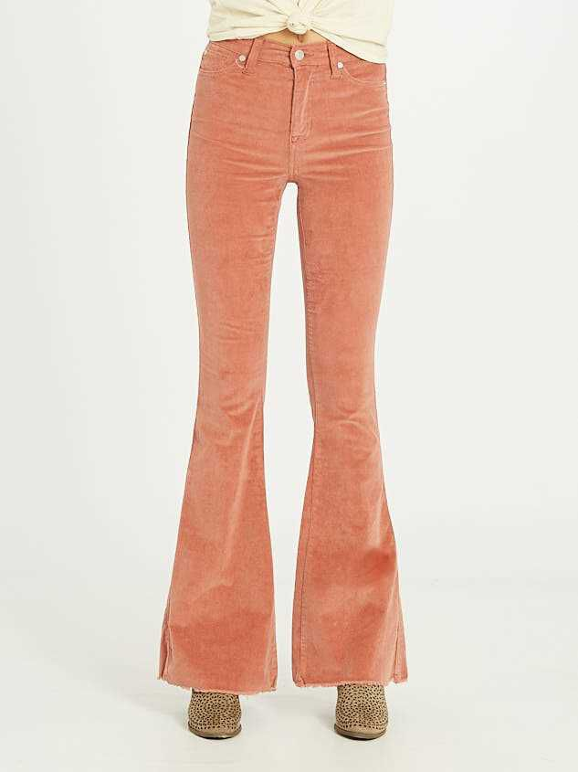 Sienna Cord Flare Pants Detail 3 - Altar'd State
