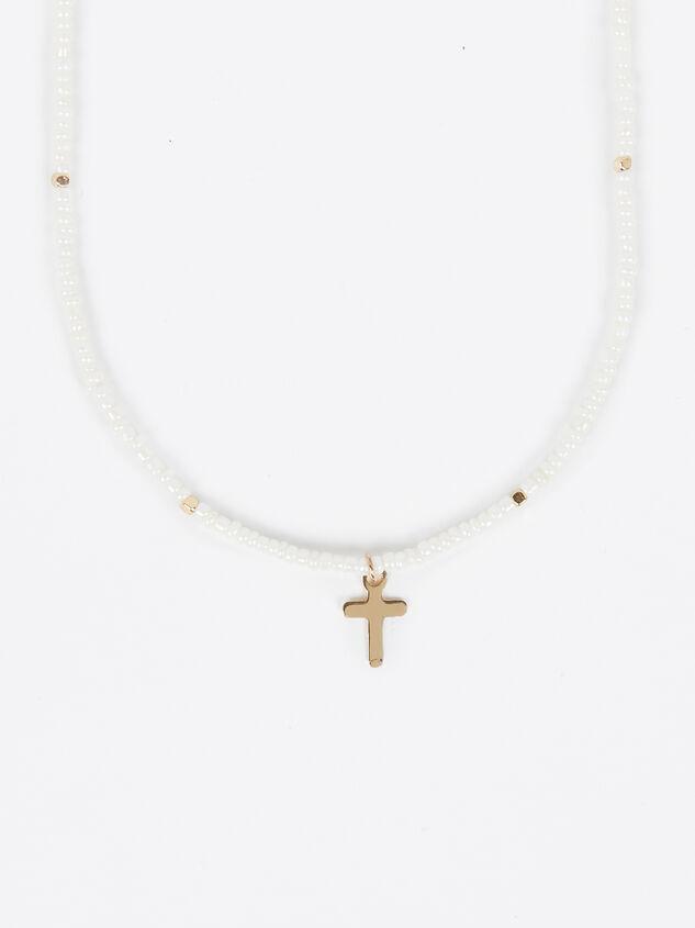 Ivory Cross Choker Detail 2 - Altar'd State