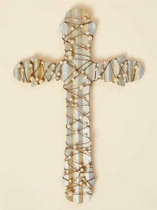 Pearl Wrapped Metal Cross - Altar'd State