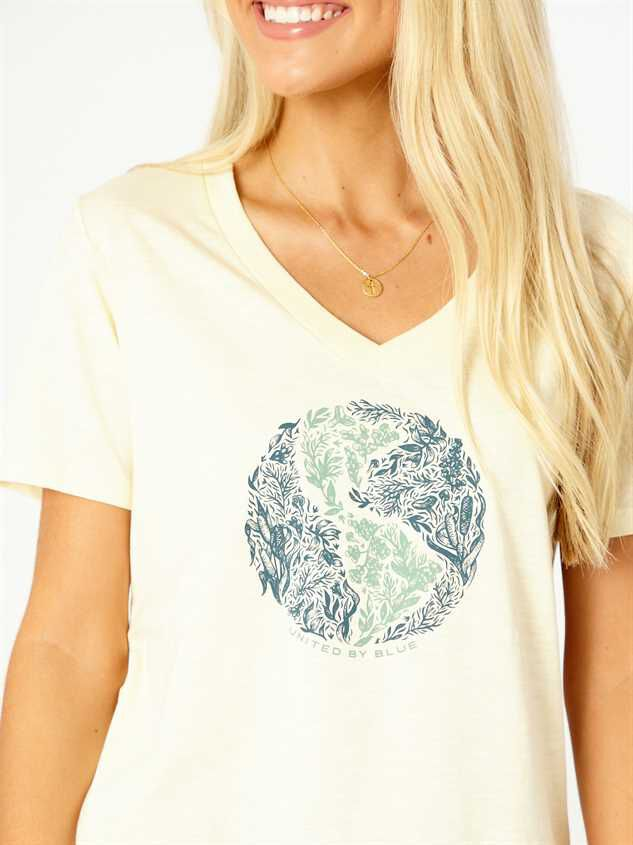 United By Blue Rooted in Nature Tee - Ivory Detail 4 - Altar'd State
