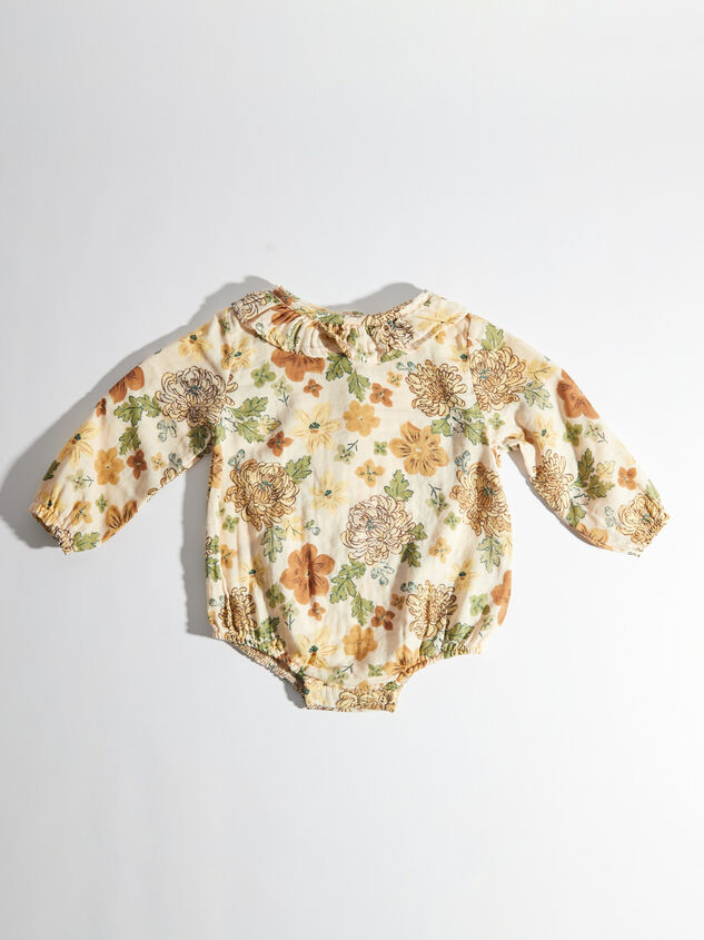 Tullabee Floral Ruffle Collar Bodysuit Detail 2 - Altar'd State