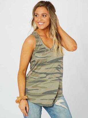 The Camo Racer Tank - Altar'd State