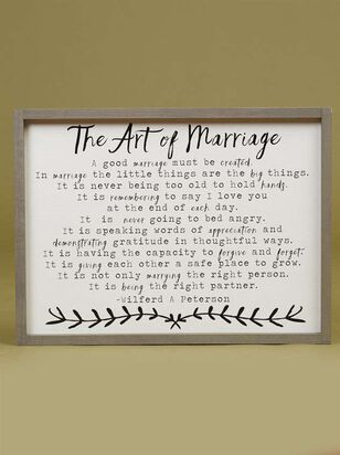 The Art Of Marriage Wall Art - Altar'd State