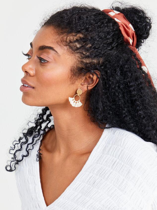Tassel Hoop Earrings Detail 2 - Altar'd State