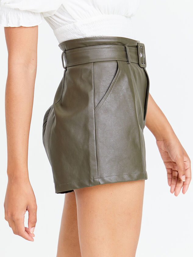 Austin Vegan Leather Shorts Detail 2 - Altar'd State