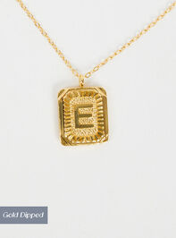 Burst Tag Monogram Necklace - E - Altar'd State