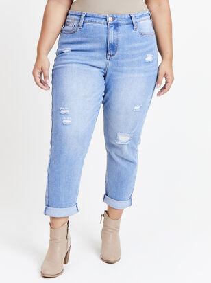 Destructed Girlfriend Jeans - Altar'd State