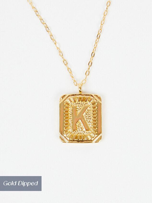 Burst Tag Monogram Necklace - K - Altar'd State